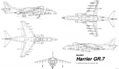 bae,mcdonnell douglass harrier gr7 2 model airplane plan