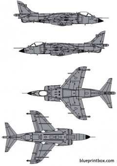 bae sea harrier mk1 model airplane plan