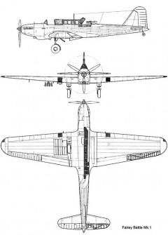 battle 3v model airplane plan