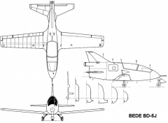 bd5j 3v model airplane plan