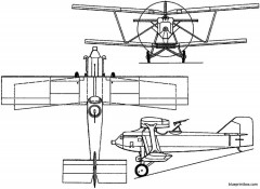 beardmore wb26 1925 england model airplane plan