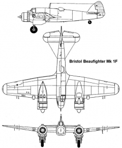 beaufighter1 3v model airplane plan