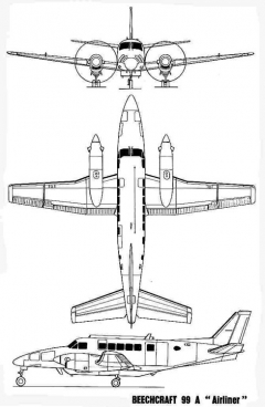 beech99 3v model airplane plan