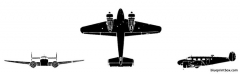 beech c 45 expeditor model airplane plan