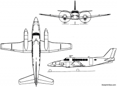 beech model 99 airliner 1966 usa model airplane plan