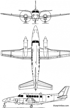 beechcraft 99a airliner model airplane plan