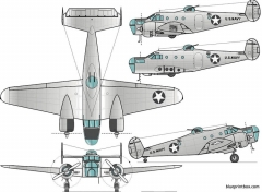beechcraft at 11 kansan model airplane plan