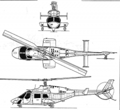 bell222 3v model airplane plan