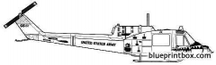 bell 204 uh 1c huey model airplane plan
