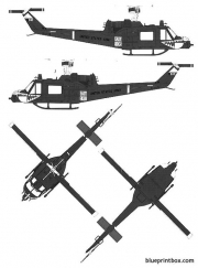 bell 204 uh 1c huey 2 model airplane plan