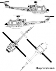 bell 204 uh 1f huey model airplane plan