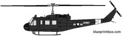 bell 205 uh 1 huey model airplane plan