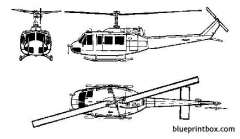 bell 205 uh 1 iroquois 2 model airplane plan