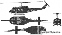 bell 205 uh 1d heer model airplane plan
