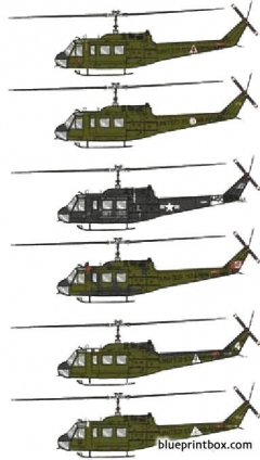 bell 205 uh 1d huey model airplane plan
