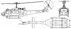 bell 205 uh 1d iroquois model airplane plan