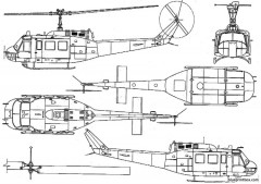bell 205 uh 1d iroquois huey model airplane plan