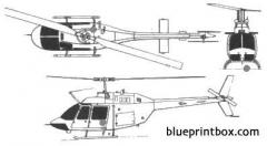 bell 206 kiowa model airplane plan