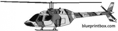 bell 206 oh 58a kiowa model airplane plan