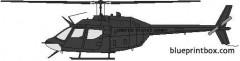 bell 206 oh 58b kiowa model airplane plan
