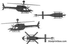 bell 206 oh 58d kiowa 2 model airplane plan