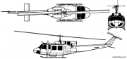 bell 212 model airplane plan