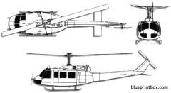 bell 212 uh 1 huey model airplane plan