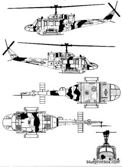 bell 212 uh 1n huey 2 model airplane plan