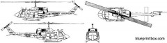 bell 212 uh 1n iroquois model airplane plan