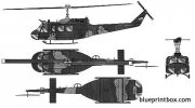 bell 214 uh 1h heuy model airplane plan