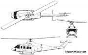 bell 214st model airplane plan