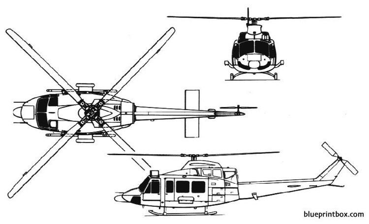 bell 412 model airplane plan