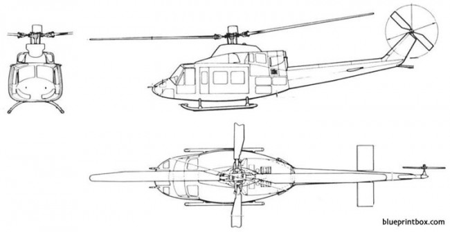 bell 412 ts model airplane plan