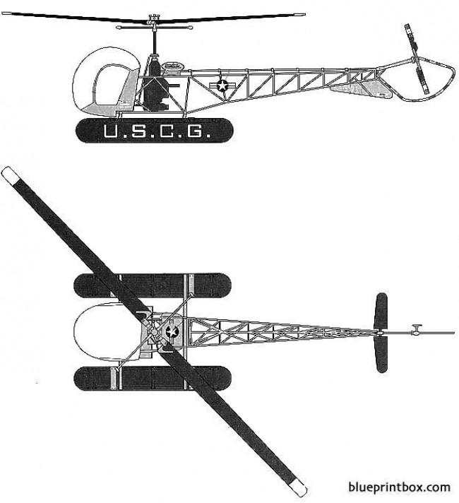 bell 47 htl 4 sioux model airplane plan