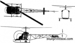 bell 47 sioux model airplane plan
