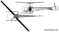 bell 47d model airplane plan