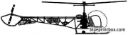 bell 47d sioux model airplane plan