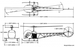bell 47g model airplane plan