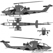 bell ah 1f cobra model airplane plan