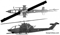 bell ah 1f cobra idf model airplane plan
