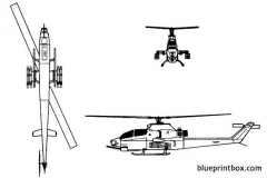 bell ah 1f super cobra model airplane plan