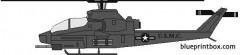 bell ah 1h cobra model airplane plan
