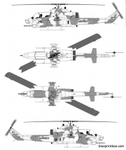 bell ah 1w supercobra model airplane plan