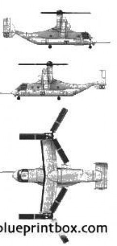 bell boeing mv 22 osprey model airplane plan