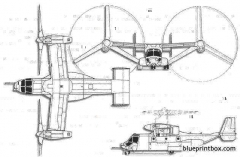 bell boeing v 22 osprey model airplane plan