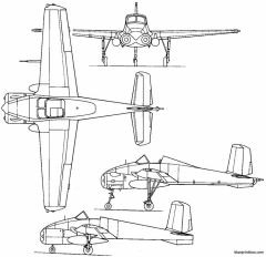 bell model 68 x 14 1957 usa model airplane plan