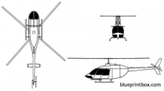 bell oh 58d kiowa model airplane plan