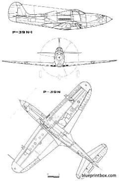 bell p 39 airacobra model airplane plan