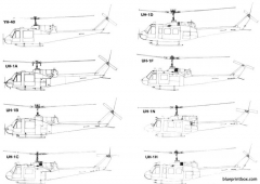 bell uh 1 huey model airplane plan