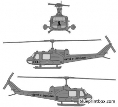 bell uh 1b huey bell 204 model airplane plan